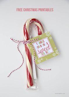 Free Christmas printable tags