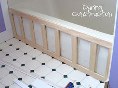 Some great instructions on how to add decorative molding to a bathtub........D.