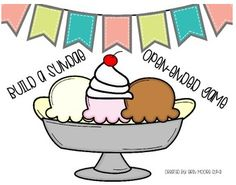 """FREE LESSON - """"Build a Sundae Open-ended Game"""" - Go to The Best of Teacher Entrepreneurs for this and hundreds of free lessons.  Pre-Kindergarten - 5th Grade  #FreeLesson  http://www.thebestofteacherentrepreneurs.net/2014/09/free-misc-lesson-build-sundae-open.html"""