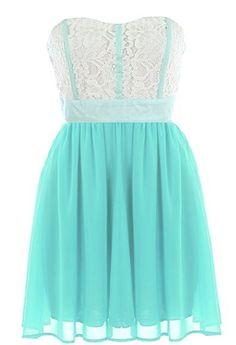 Mint Garnish Dress | Lace Chiffon Dresses | Rickety Rack