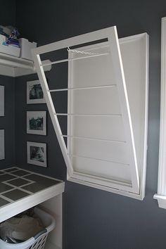 laundry room + drying rack