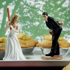 """Home Run"" Baseball Cake Topper- for a bride I know next year? #popular"