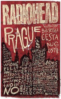 Radiohead Gig Poster