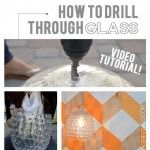 how to drill through glass...for making new lamp
