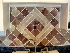 This blog is FULLLLL of painted backsplashes that totally look like tile.  LOVE!