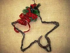 Western Christmas Wreaths | large western christmas holiday wreath hand made and designed by
