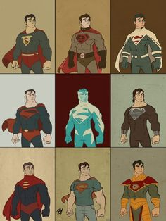 Superman Costumes Throughout the Ages...this is awesome.