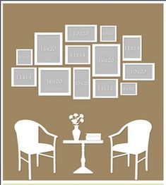 Wall display ideas on pinterest photo wall displays for Wall art templates free