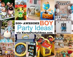 500+ awesome BOY themed PARTY IDEAS via Kara's Party Ideas | KarasPartyIdeas.com #boy #themed #party #ideas #awesome #idea #cake #birthday