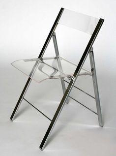 Clarity Acrylic Folding Chairs - (Set of 2)