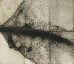 """Soot Storm, Sarah Amos, 2009 (Etching, 85"""" x 59"""")"""