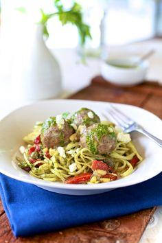 Lamb Meatball & Mint Pesto Pasta