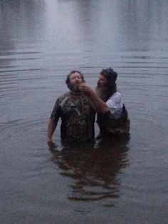 Phil Robertson from Duck Dynasty baptizes a man who drove 800 miles to hear about the Jesus that he heard about watching the show on cable TV. God bless you Phil Robertson.....Amen This... This is why I love this show. Not just for the humor and hunting, but because these men are truly God fearing Christians! We need more shows about people like the Robertsons!!