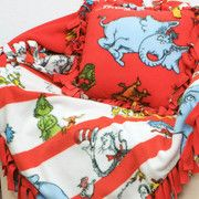 Dr. Seuss no-sew blanket and pillow pattern