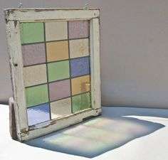 Unique Rectilinear Modern Stained Glass Window Pane