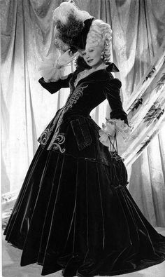 From Dubarry was a Lady - not in colour, but a great overall shot of a dress that was reused from Marie Antoinette