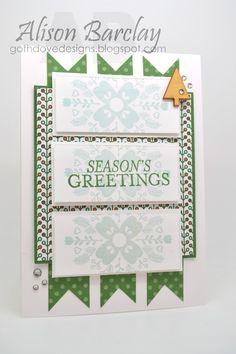 Gothdove Designs - Alison Barclay #stampinup #Christmas #card #stampinupaustralia #BrightandBeautiful #CheerfulChristmas #NordicNoel