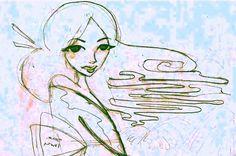 japanese girl drawing