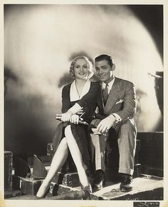 vintag, carole lombard and clark gable, movi star, carol lombard, clarks, hollywood, beauti peopl, coupl, lombard romanc