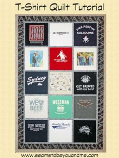 T-shirt quilt tutorial for beginners