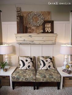Decorating ideas. Vintage, rustic, repurposed.