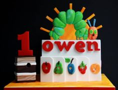 The Very Hungry Caterpillar Birthday Cake by Lick the Bowl, Rowville, Victoria, Australia. You'll find this Cake Appreciation Society Member in our Directory at www.cakeappreciationsociety.com