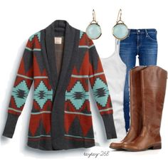 Aztec Cardi and Boots :)