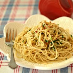 Thin Spaghetti with Garlic, Red Pepper and Olive Oil #Allstars Barilla @Allrecipes.com