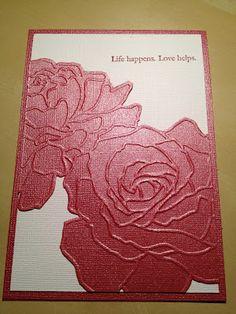Stampin' Up! Manhattan Flower embossing folder