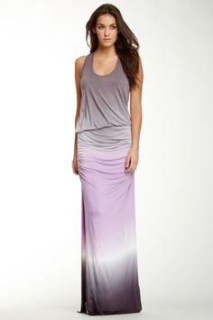such a pretty ombre tank dress