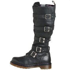 Dr. Martens Women's Phina Boot.  $135.99 - $180.00            The Dr. Martens Women's Phina Boot will add an industrial-chic vibe to your wardrobe. Constructed with leather uppers, the bold calf-high boot features buckle embellishments along the outside of the boot, and a discrete zipper along the inside. A durable rubber sole comple...