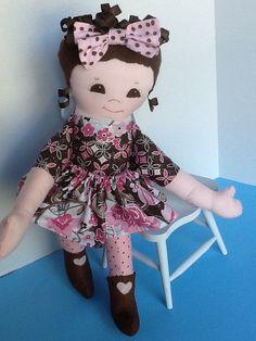Easy PDF Cloth Rag Doll Pattern Primrose  Great by PeekabooPorch, $9.00
