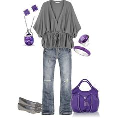 Gray and purple...  Loving this color combo for fall!