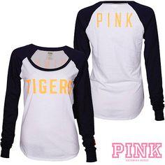 Detroit Tigers Victoria's Secret PINK® Drapey Baseball Tee $36.50