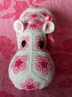 African Flower Amigurumi Free : Crochet Hippo on Pinterest Crochet Stuffed Animals ...