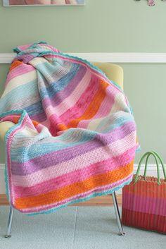#crocheted striped #blanket