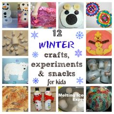 12 Fun Winter Activities, Experiments and Snacks for Kids from Mom to 2 Posh Lil Divas