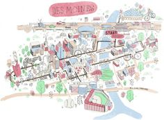 maps, gulliv hancock, cycling, desmoin cycl, detail map