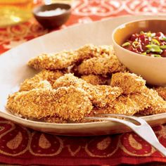 Oven Fried Chicken Tenders   FaveHealthyRecipes.com