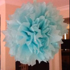 My first paper Pom Pom - eat yer heart out Martha Stewart:-)