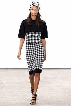 #DerekLam #Spring/2014 #Catwalk #trends #MBFWNY #NewYork #SS/2014 #blackAndWhite on Style.com