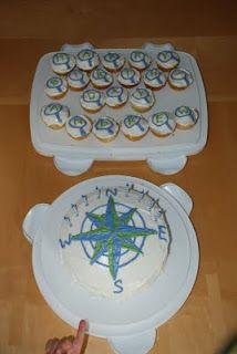 birthday parties, cakes, letterbox birthday, birthdays, adventur parti, birthday celebrations, geocach cake, parti idea, compass cake