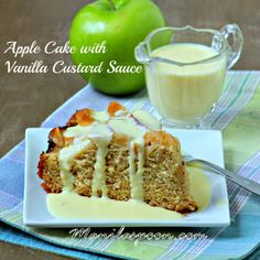 Does your Mom love Apple Cake? Then why not surprise her this Mother's Day with this luxuriously  SCRUMPTIOUS APPLE CAKE with VANILLA CUSTARD SAUCE! The cake is moist and flavorful while the custard sauce is simply divine! Love this cake a lot! <3