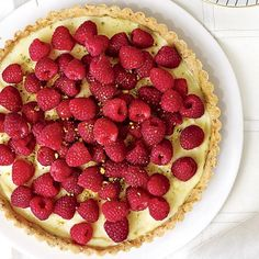 #Raspberry #Tart with a #Pistachio Crust