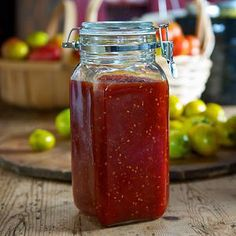 This bright red jam is kind of like a homemade ketchup, but so much better. Use it as you would ketchup or any condiment. Its fresh tomato flavor works wonders on burgers or hot dogs, scrambled eggs and all kinds of sandwiches.