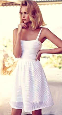 Romantic white dress.
