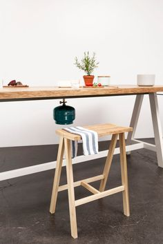 Cooking Table from Moritz Putzier. You can prep, cook, and eat on it!