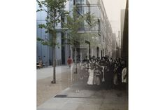 Adam Tuck's blended bitmap images of East London today and as captured by C. A. Mathews in 1912M: Frying Pan Alley