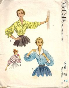 McCall's Blouse Pattern 9026