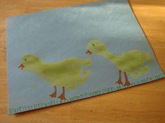 Ducky footprint art :)